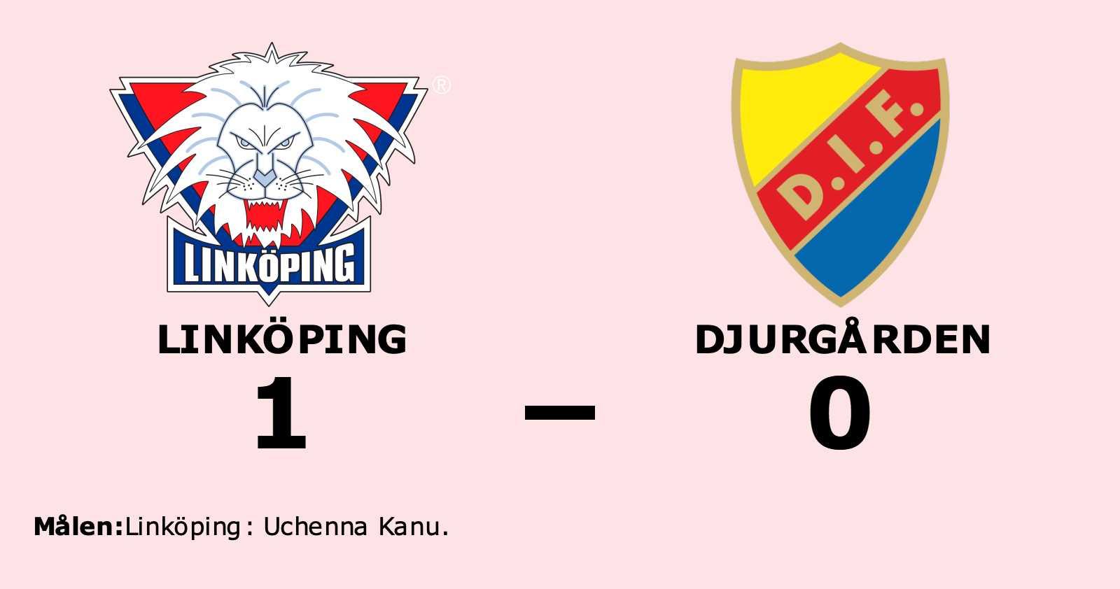 Uchenna Kanu matchhjälte för Linköping mot Djurgården