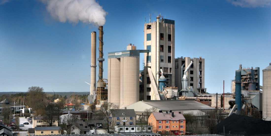Cementas anläggning i Slite på Gotland. Arkivbild.
