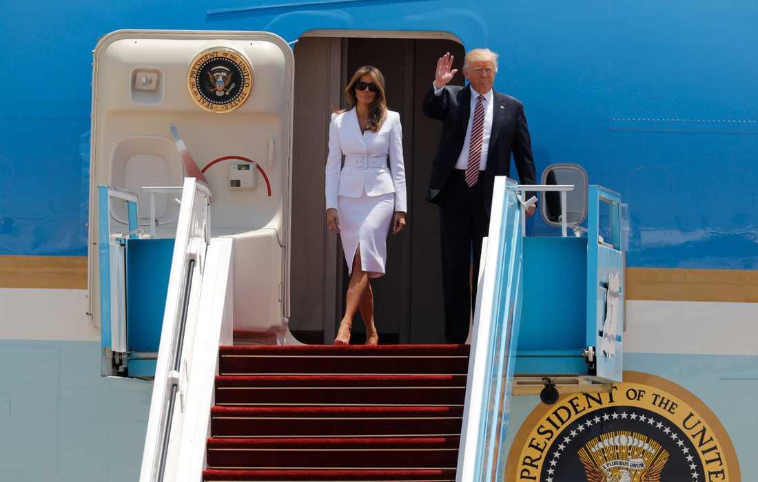 Donald och Melania Trump.