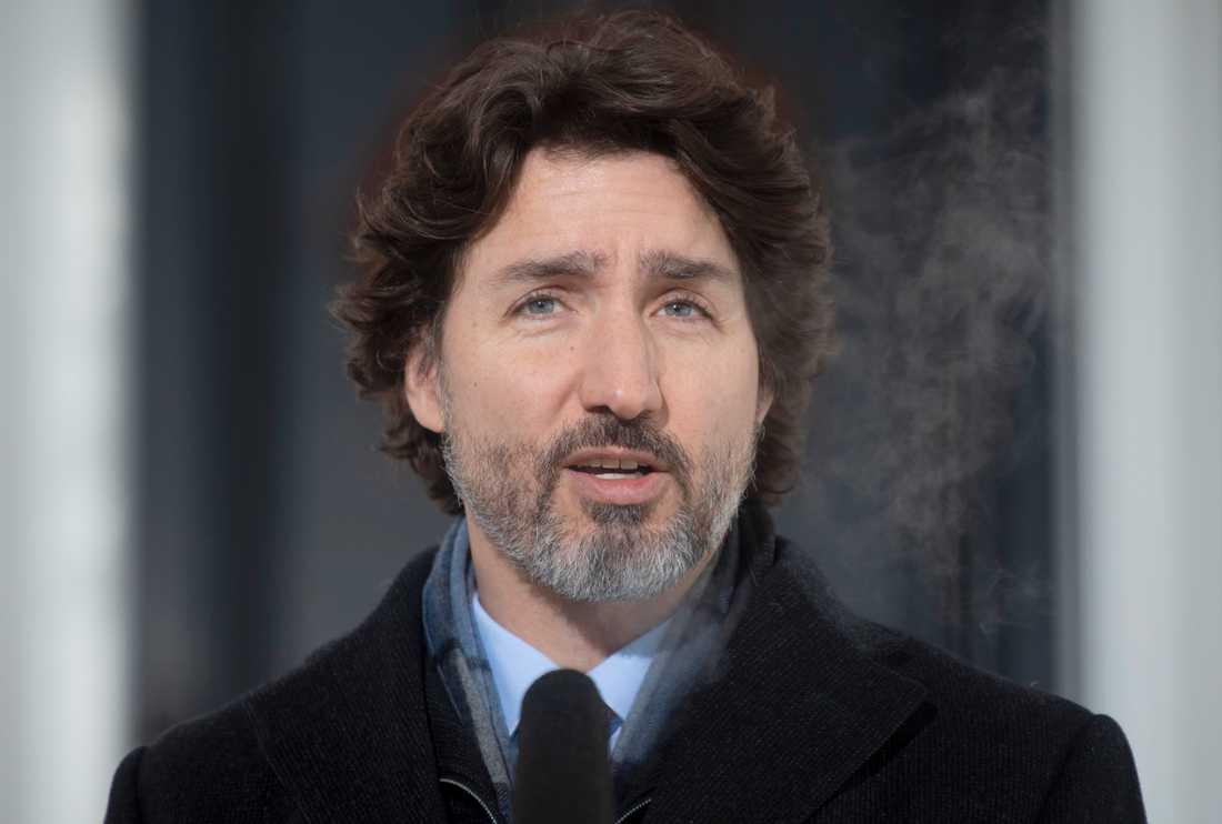 Justin Trudeau blir den första utländska ledaren som Joe Biden träffar som USA:s president. Arkivbild.