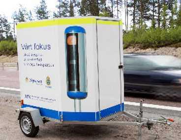 Här är den - polisens nya vagn med radar och kamera.
