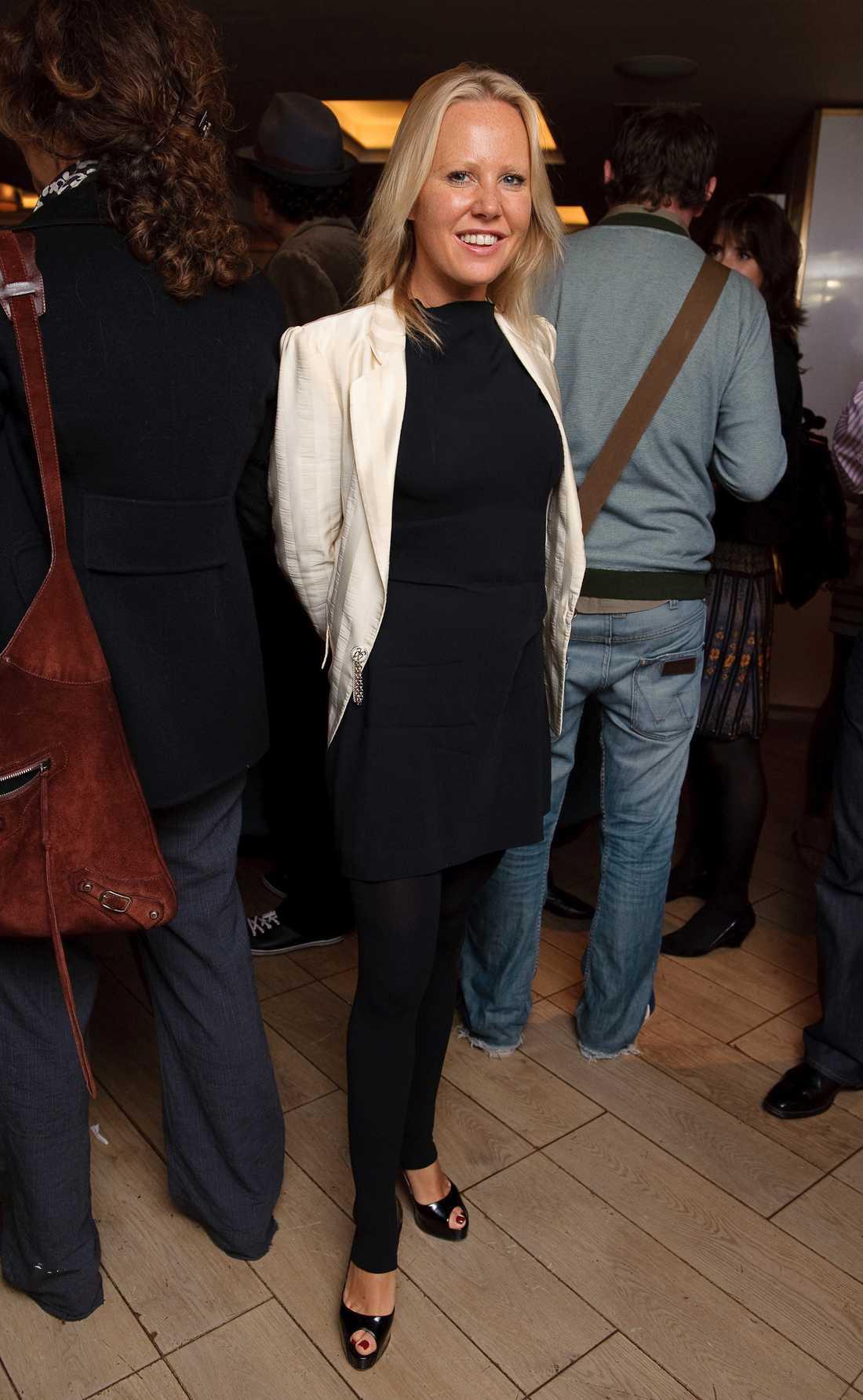 Chris barndomskompis Alice Bamford är en av Leonores faddrar. Här är hon på en filmpremiär i Lpndon.