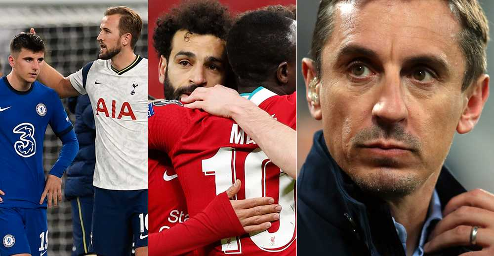 Gary Neville riktar skarp kritik mot de klubbar i Premier League som ligger bakom the Super League