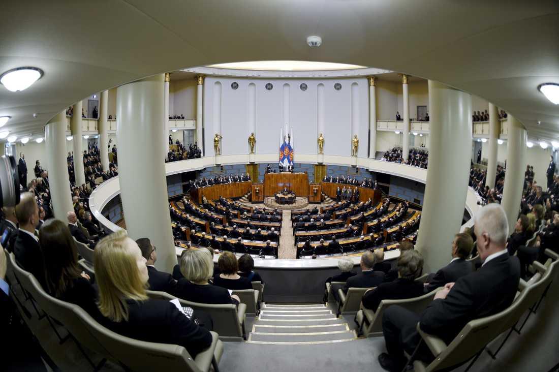 Finlands riksdag. Arkivbild.