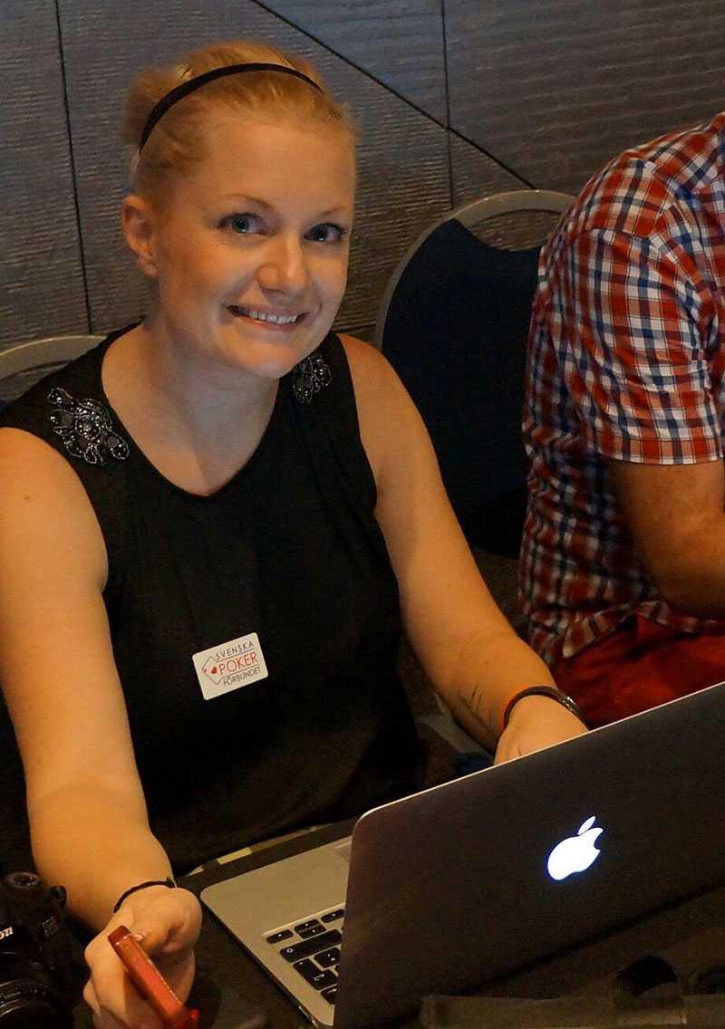 Lina Olofsson Ordförande för SvePof och bloggare på Sportbladet Poker.