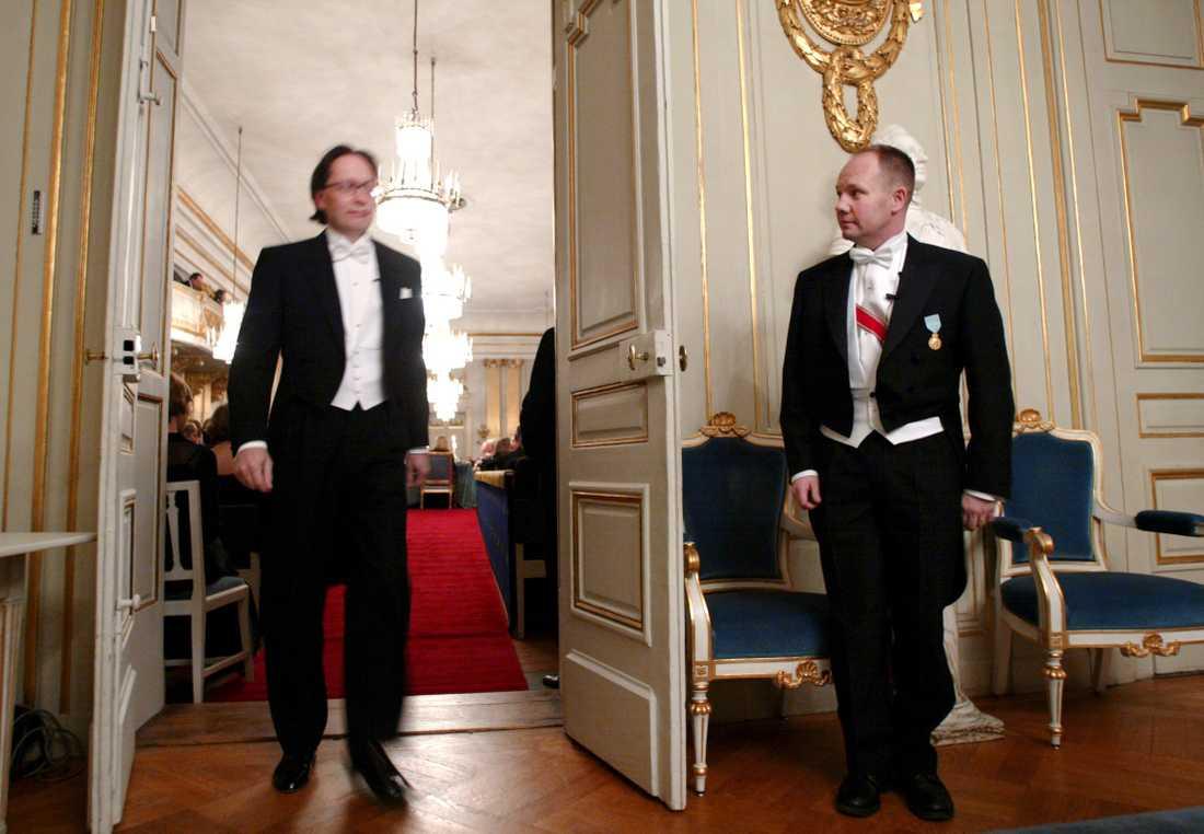 Horace Engdahl och Peter Englund 2002. Arkivbild.