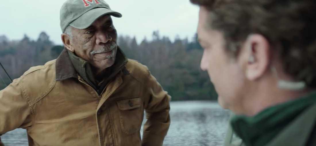 """Morgan Freeman och Gerard Butler i """"Angel has fallen""""."""