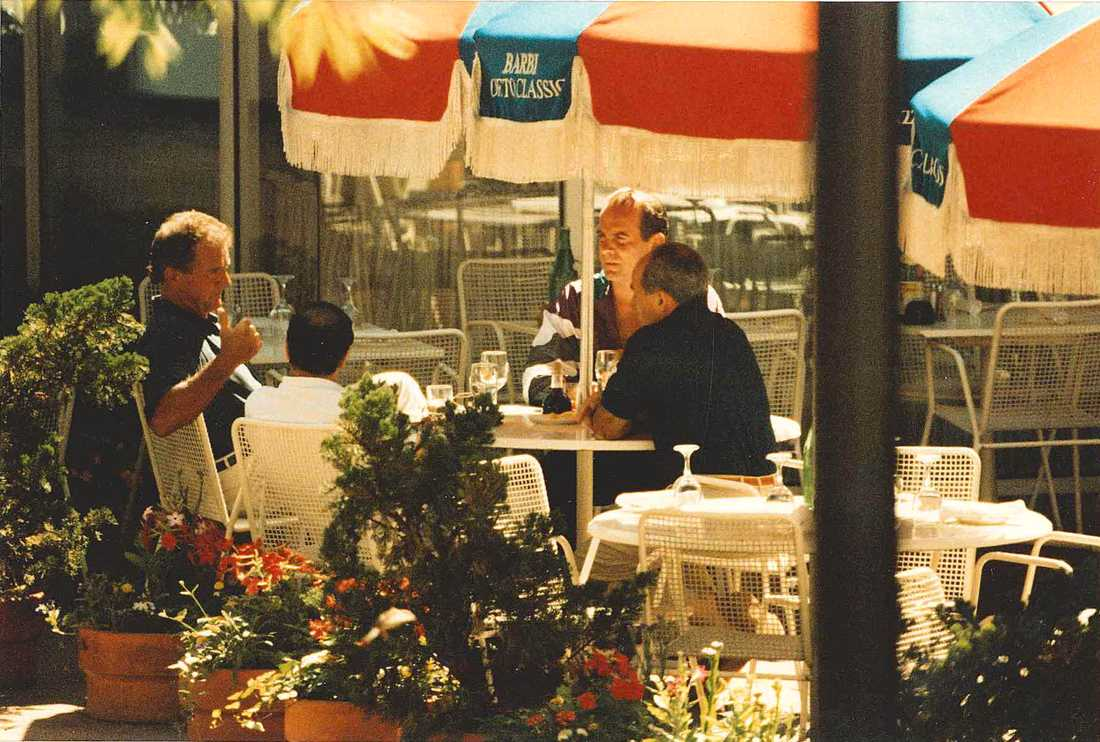 "Francis ""Cadillac Frank"" Salemme, Stephen Flemmi, Francis Salemme Jr och Luigi Manocchio fotograferade tillsammas 1993."