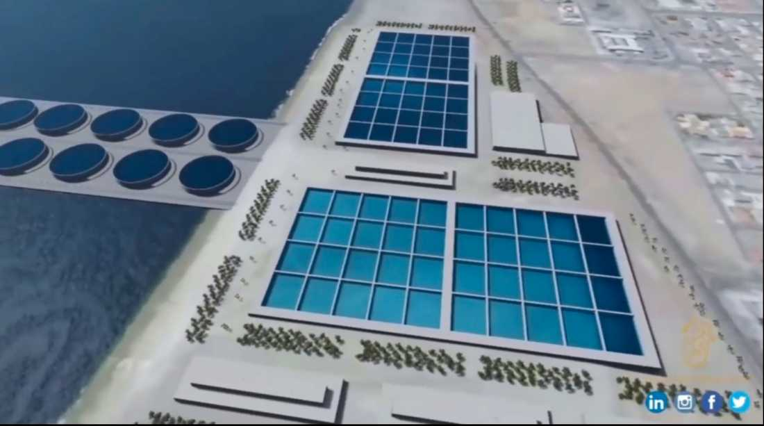 Abdulla Alshehis företag National Advisor Bureau kommer att använda modern teknik för att hålla isbergen nerkylda.