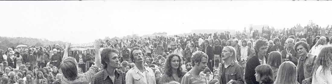 Musikfest på Gärdet i Stockholm 1978.