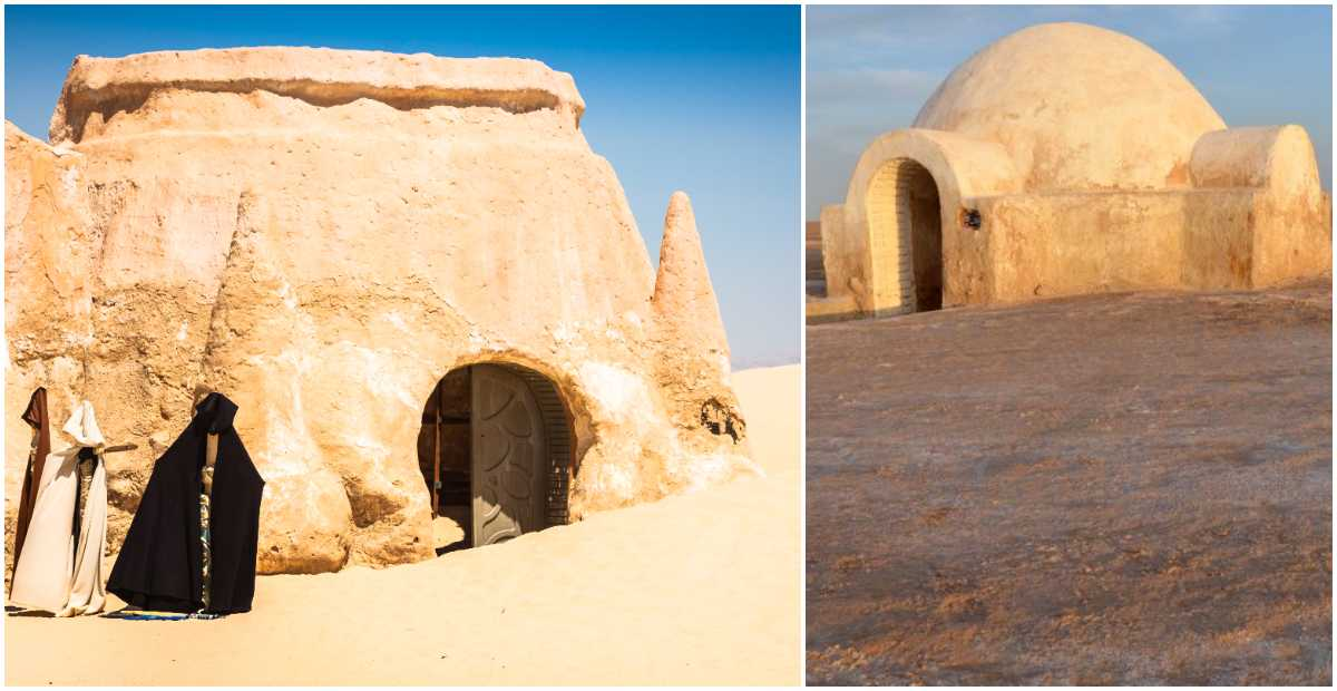 Flera av inspelningsplatserna från Star Wars finns kvar i Tunisien.