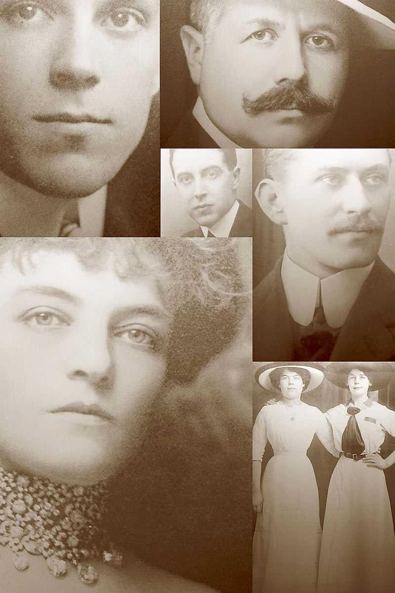 Resenärernas foton och brev vittnar om de mänskliga tragedierna på Titanic.
