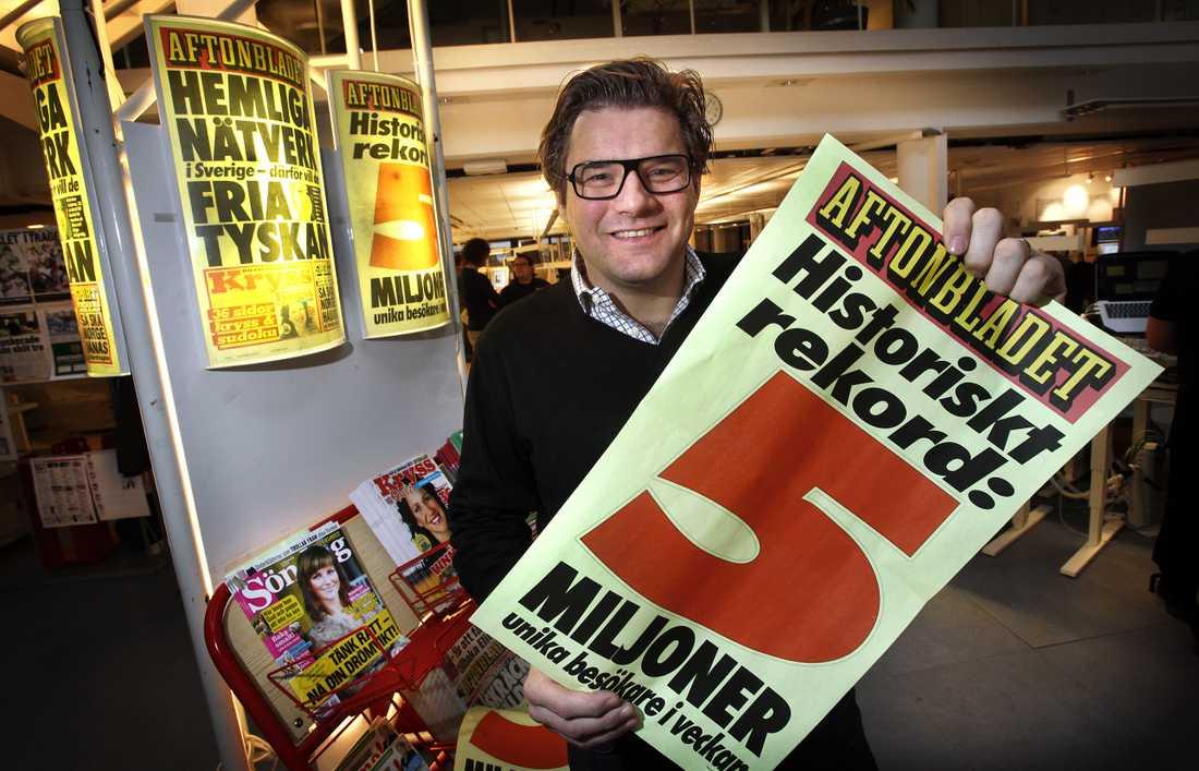 Nya häftiga rekord, aftonbladet.se slår rekord, fem miljoner besökare på en vecka.