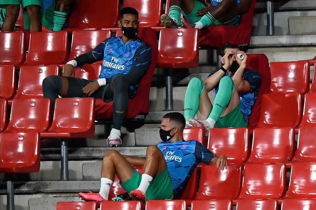 Gareth Bale måttligt fokuserad under matchen mot Granada.