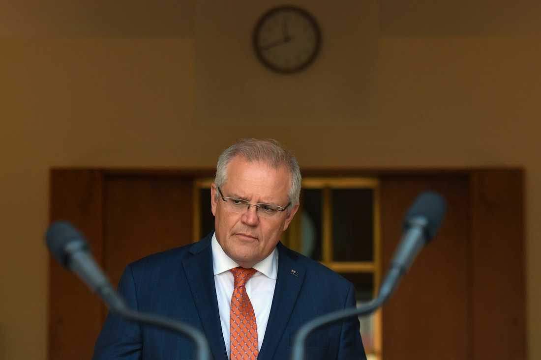 Australiens premiärminister Scott Morrison. Arkivbild.