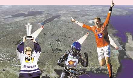 ALLT LJUS PÅ SMÅLAND Johan Davidsson, Andreas Jonsson och Patrik Ingelsten är alla framstående profiler i svenska topp lag – HV 71, Dackarna och Kalmar FF – alla från Småland.