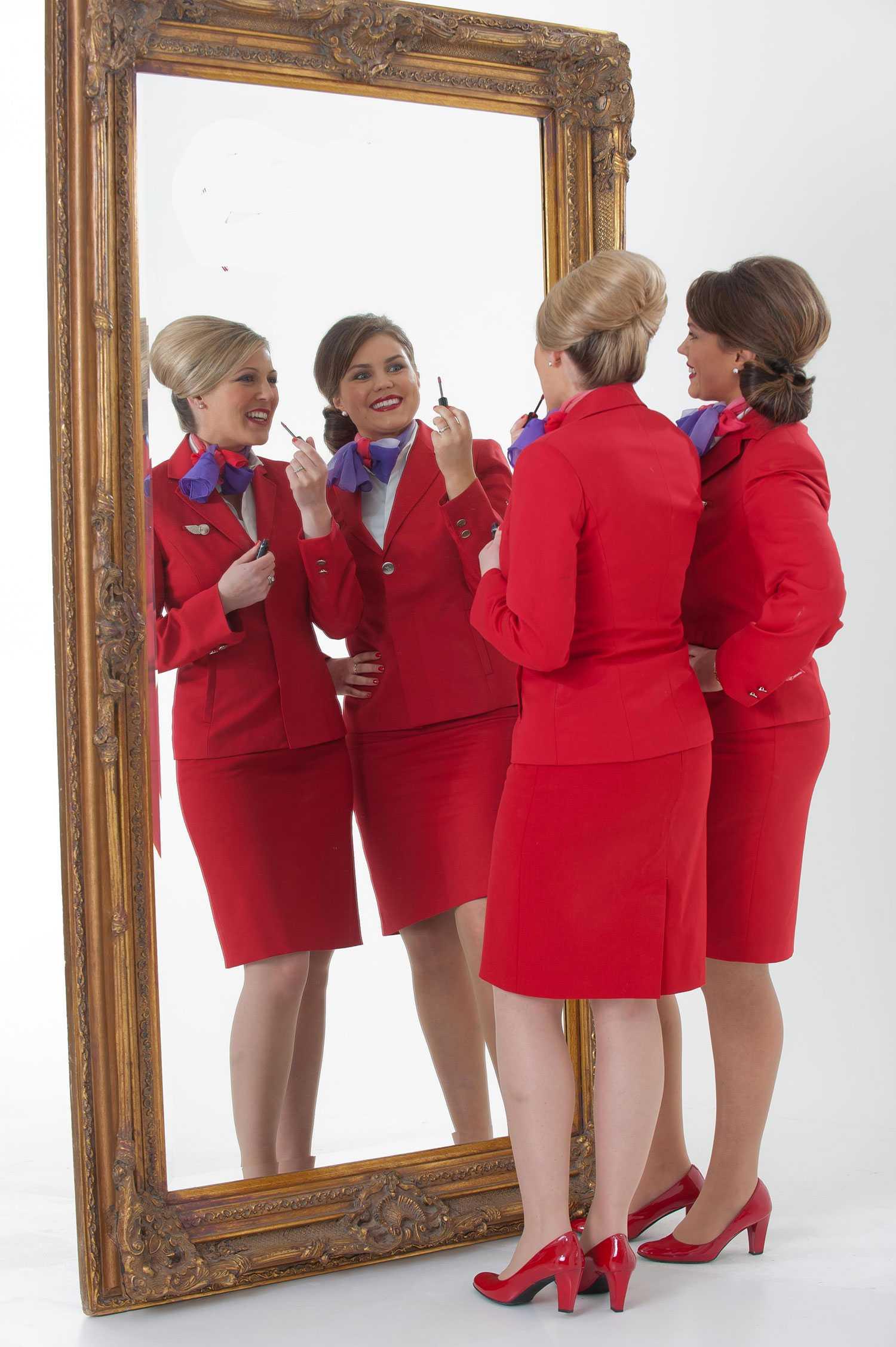 Brittiska Virgin Atlantic har specifika make up-krav på sin kabinbesättning.