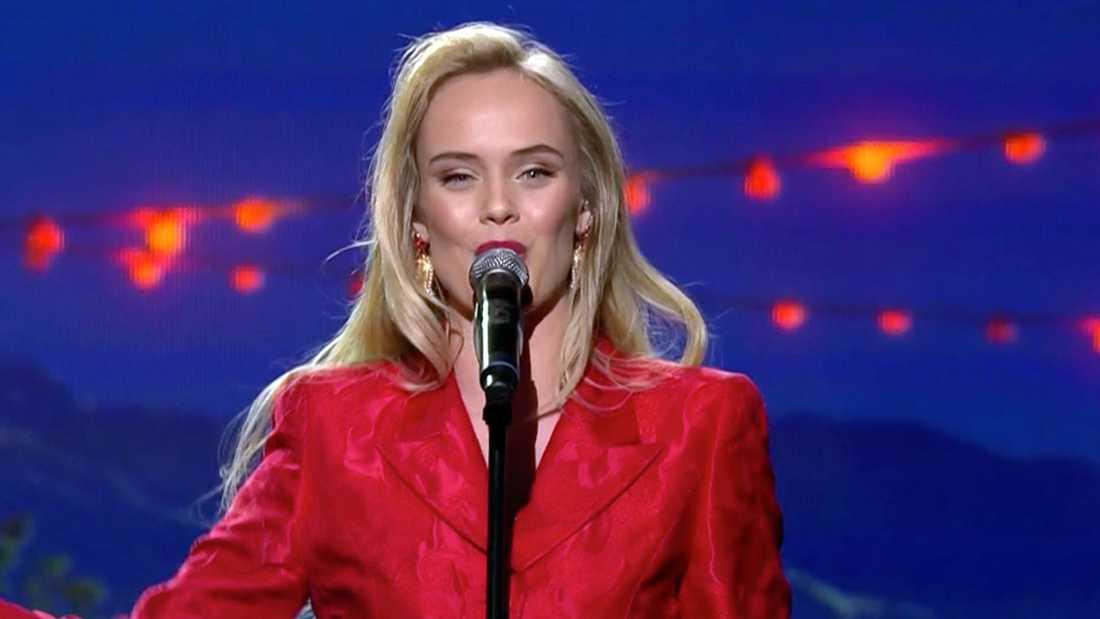 """Amanda Winberg i """"Stjärnornas stjärna""""."""
