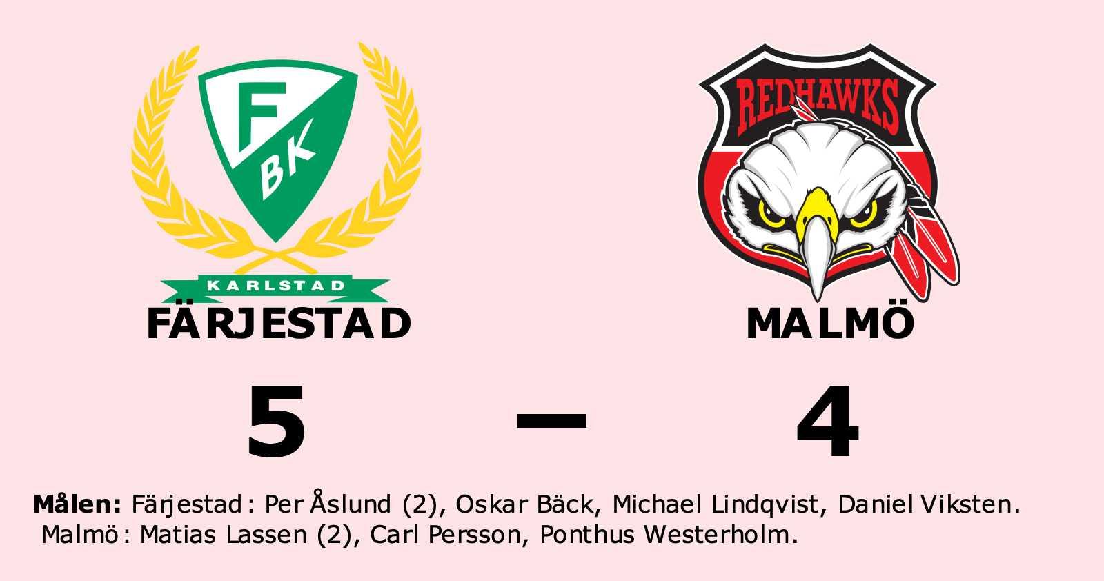 Färjestad säkrade segern mot Malmö efter rysare