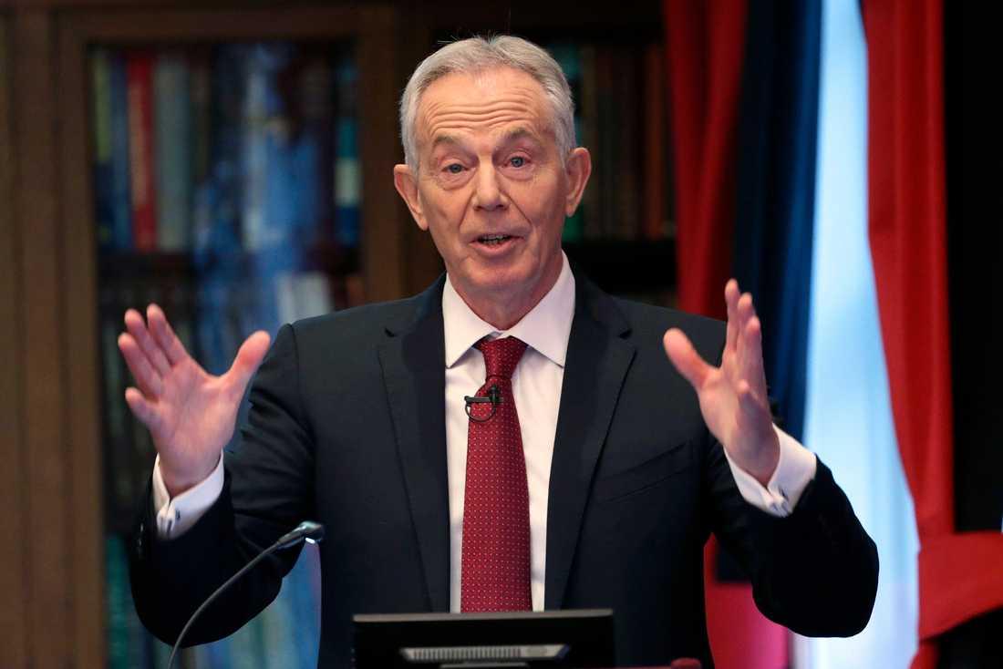 Tony Blair, tidigare premiärminister och Labourledare i Storbritannien.