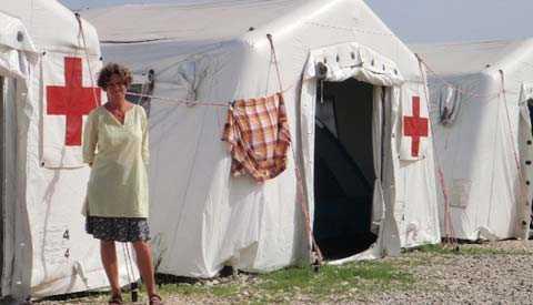"""Kerstin Jacobsen, hälsorådgivare på svenska Röda korset, har just kommit hem från Haiti. """"Nästan alla bor i tältläger"""", berättar hon för Aftonbladet."""