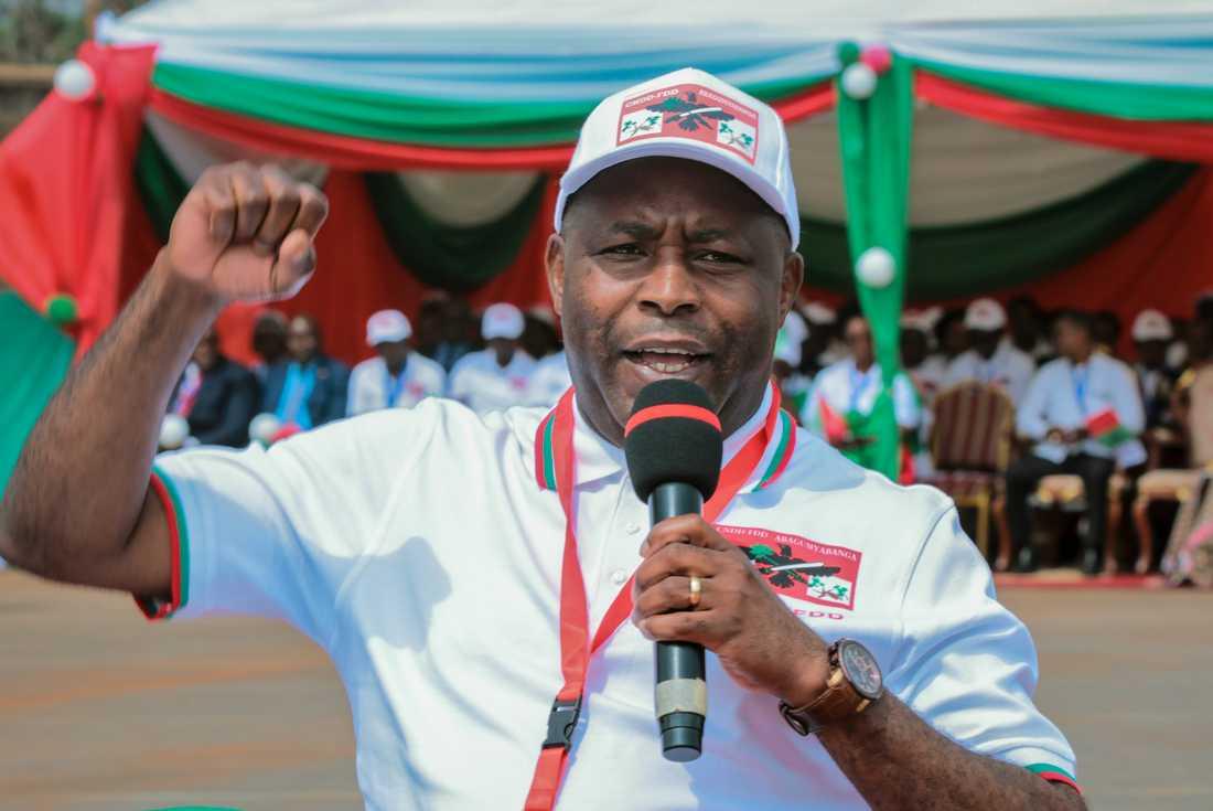Regeringspartiets kandidat Evariste Ndayishimiye väntas segra i valet i dag. Arkivbild.