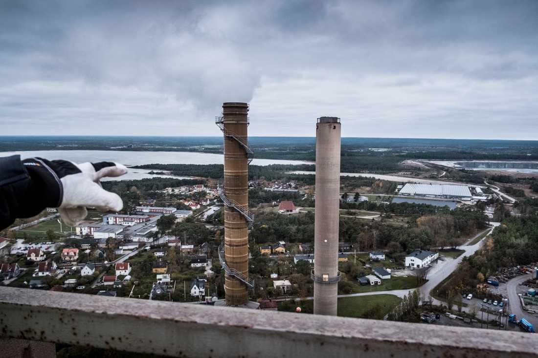 Cementas fabrik i Slite på Gotland är en av de anläggningar där det finns planer på koldioxidinfångning. Arkivbild.