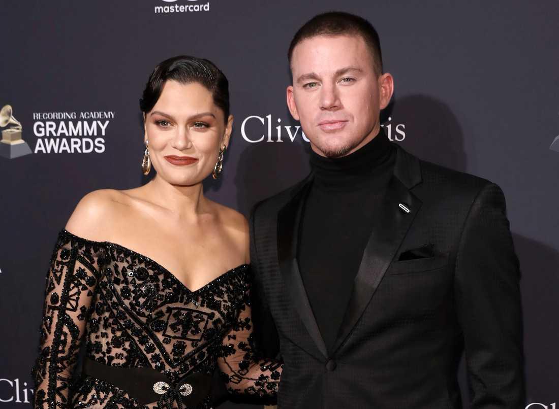 Jessie J och Channing Tatum på Emmygalans förfest i januari.