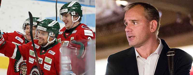 SHL:s sportchef Johan Hemli till höger.