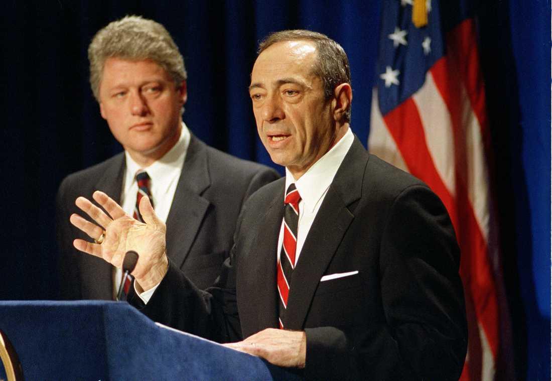 Dåvarande presidentkandidaten Bill Clinton och guvernören Mario Cuomo i april 1992.