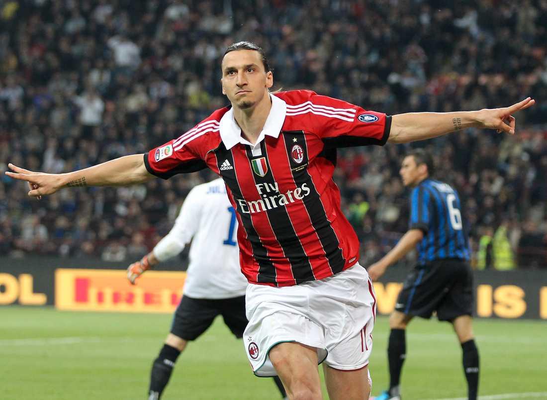 Zlatan spelade i Milan 2012.