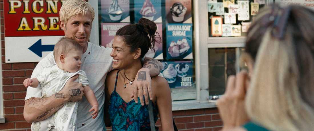 """""""The place beyond the pines"""" med bland andra Ryan Gosling och Eva Mendes."""