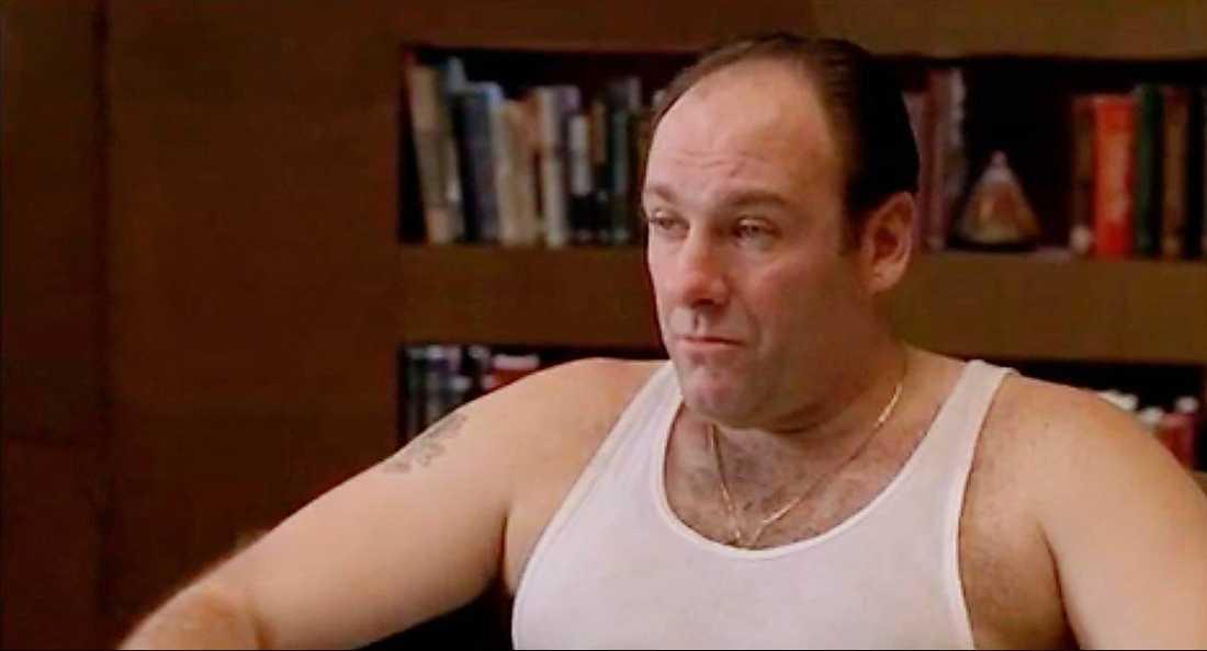 James Gandolfini som Tony Soprano.