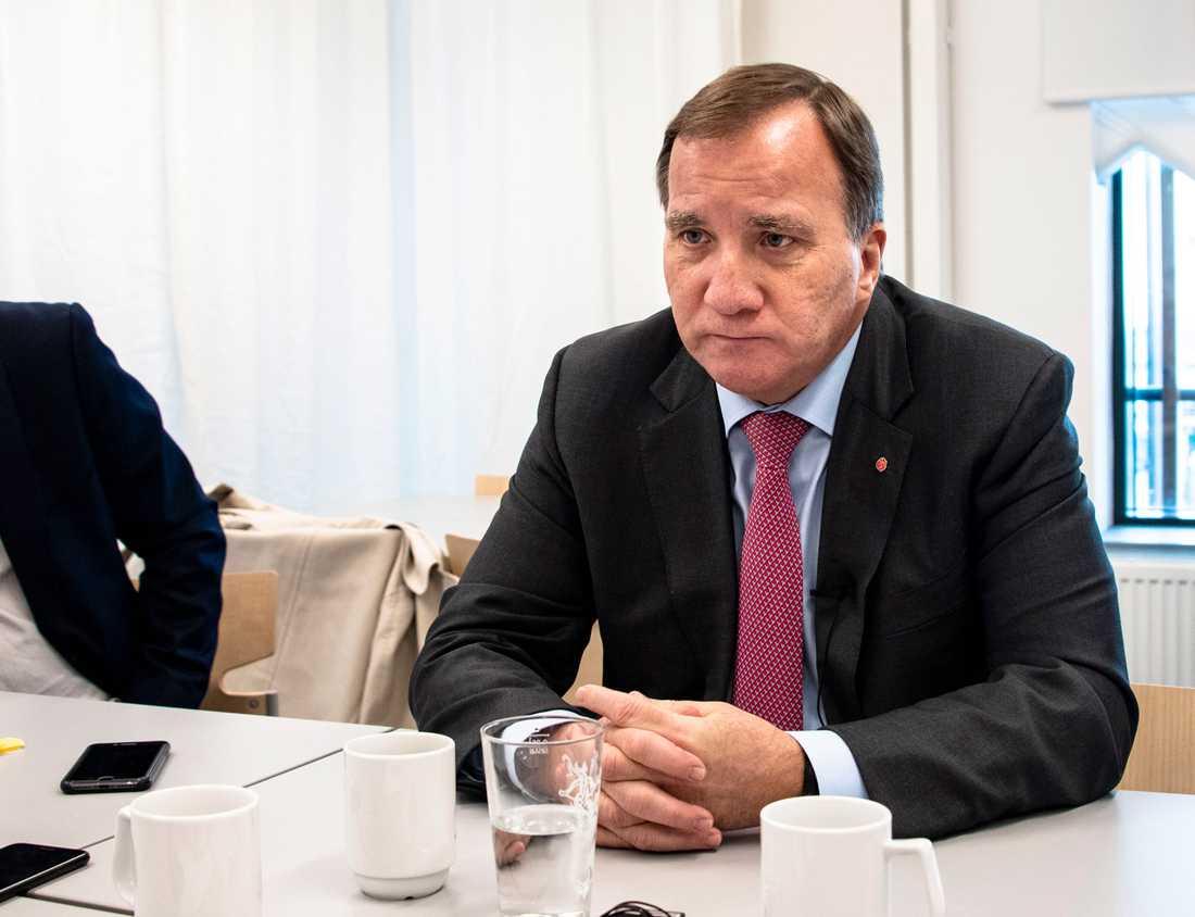 Arkivbild. Statsminister Stefan Löfven i oktober i år.