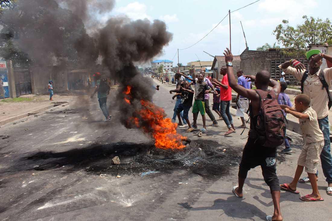 Oroligheter i Kongo-Kinshasa /Arkivbild