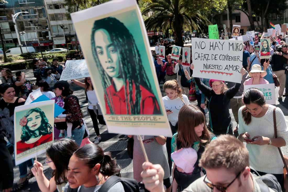 Womens march i Mexico City