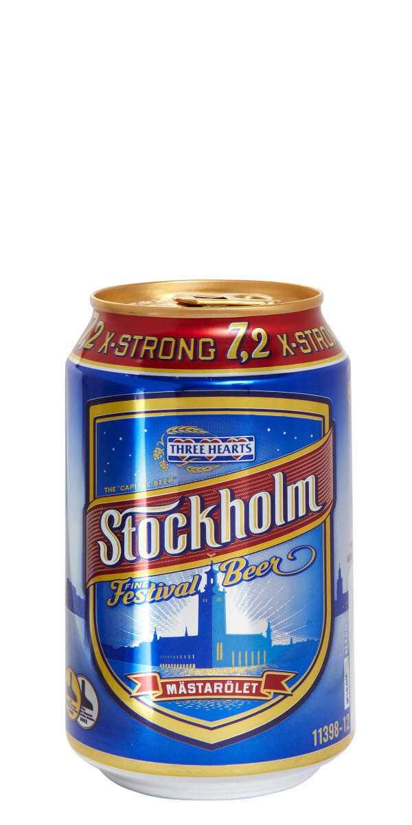 """En halv miljon burkar starköl återkallas. Det handlar om """"Stockholm Fine Festival"""", på 7,2 procent som felmärkts."""