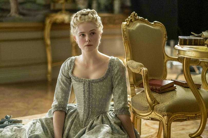 "Elle Fanning i ""The great""."