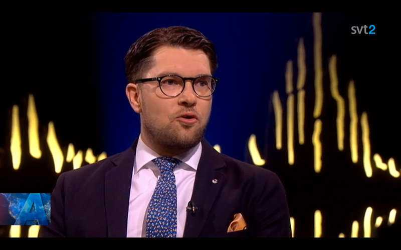 SD-ledaren Jimmie Åkesson gäst hos Skavlan.