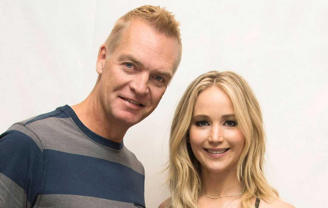 Nöjesbladets Magnus Sundholm med Jennifer Lawrence.