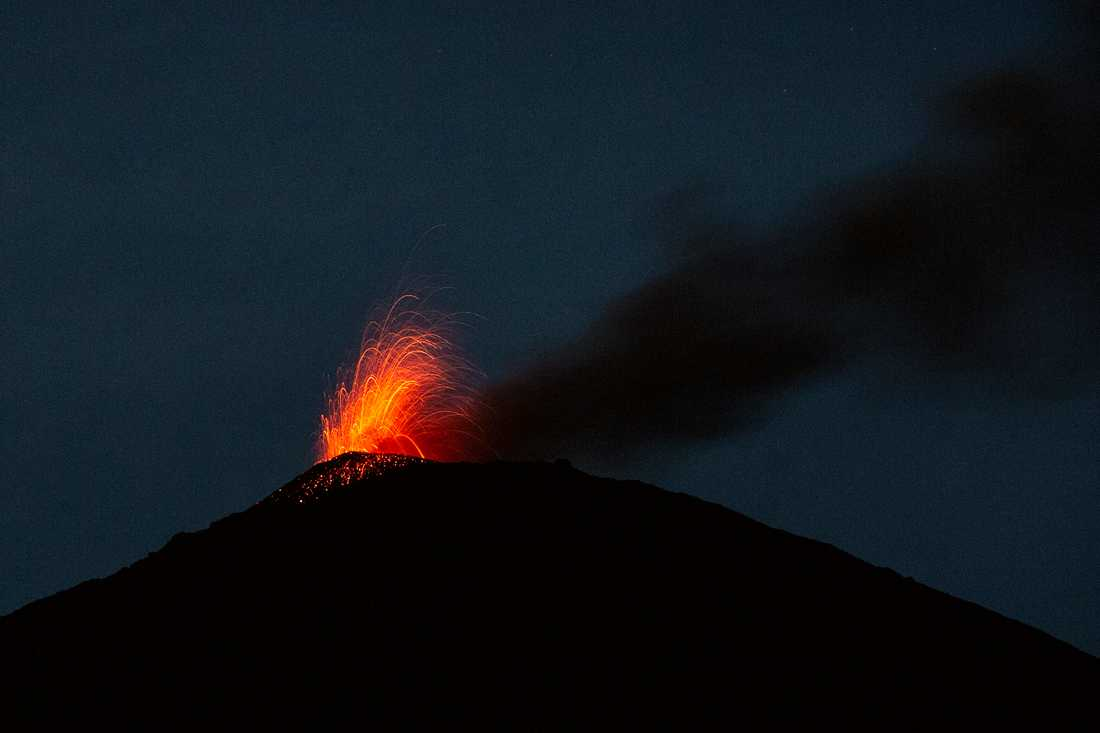 Vulkanen Pacaya i Guatemala, här vid ett utbrott i juli i fjol.