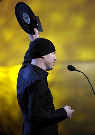 Eric Prydz fick pris för årets elektroniska musik.