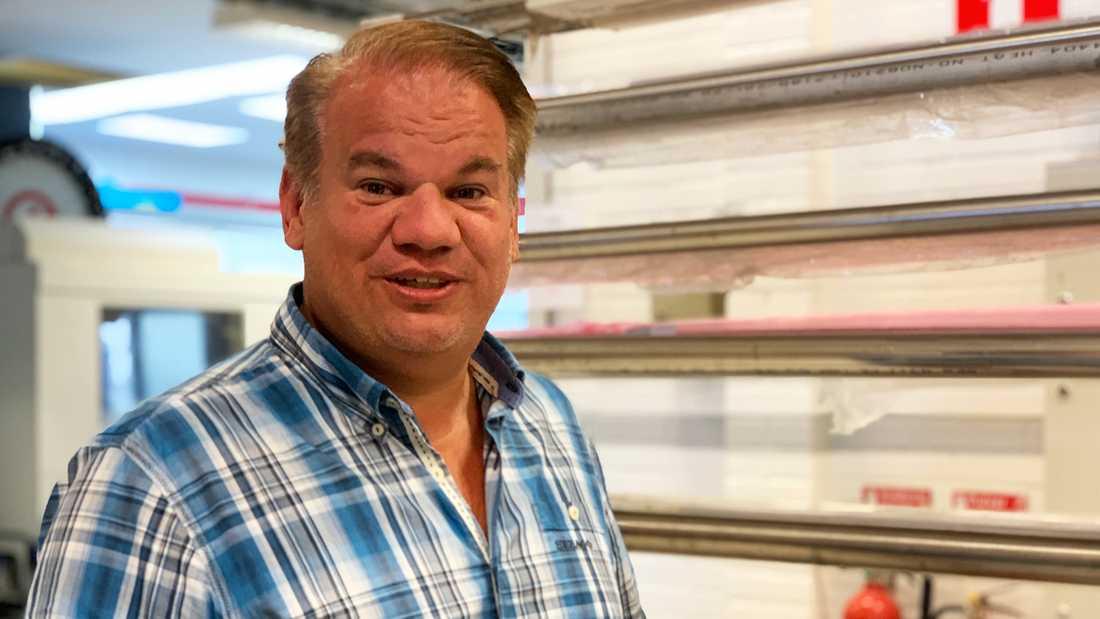 Tobias Hammar, vd AQ M-Tech, är stolt när han ser tillbaka på företagets utveckling.