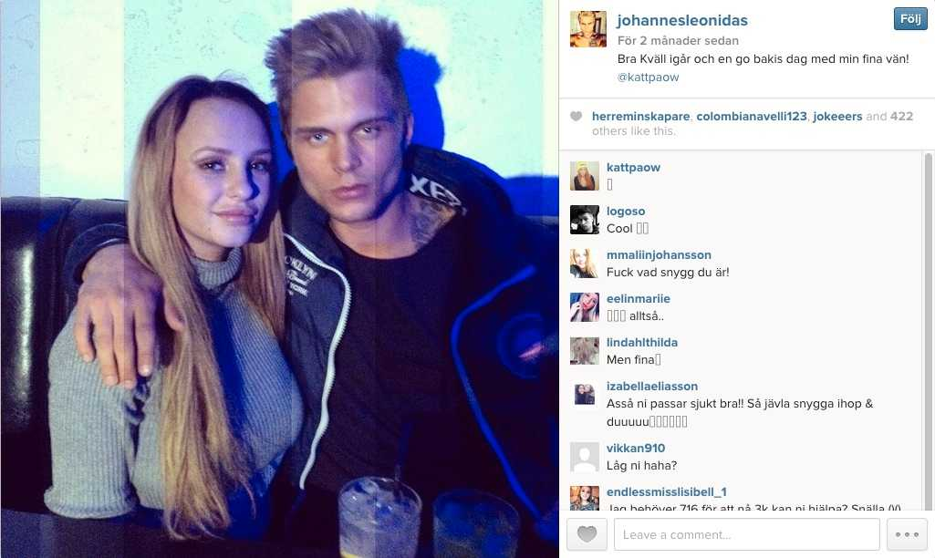 Johannes Ulmefors är en av deltagarna. Här med Paradise hotel-profilen Paulina Danielsson.