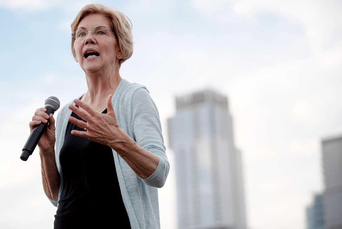 Demokraten Elizabeth Warren är en av Trumps utmanare.