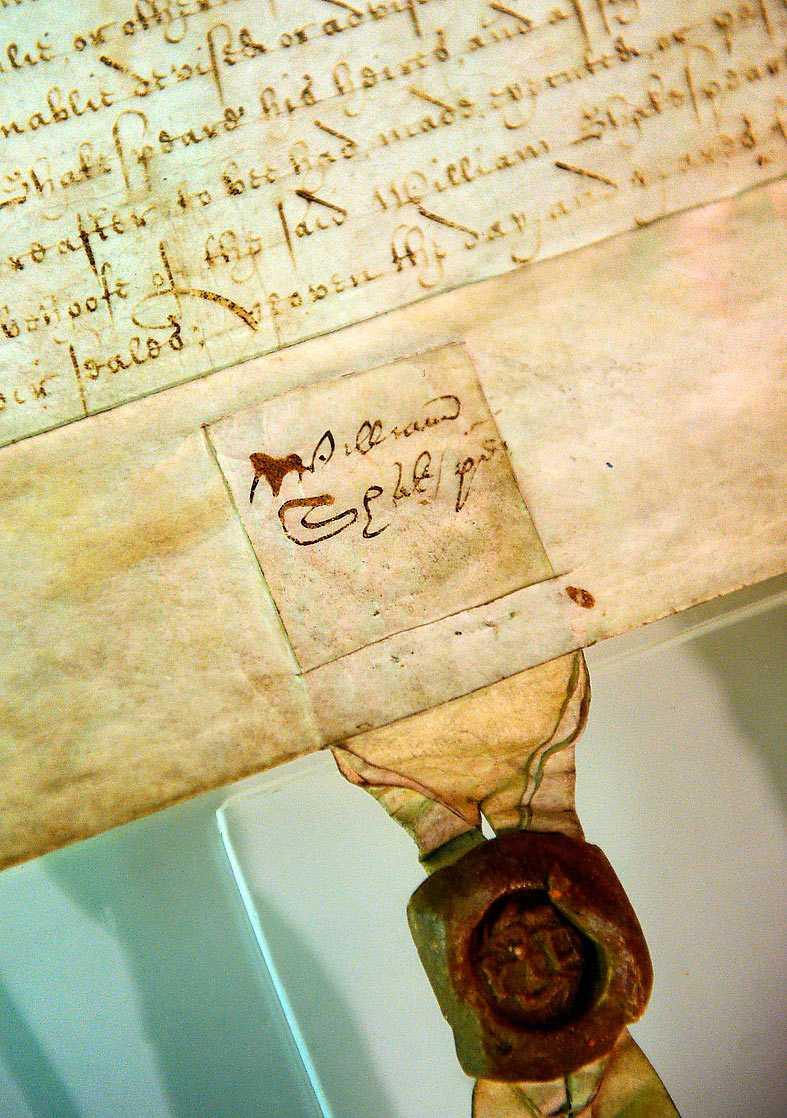 En av sex kända signaturer av Shakespeare. Foto: AP