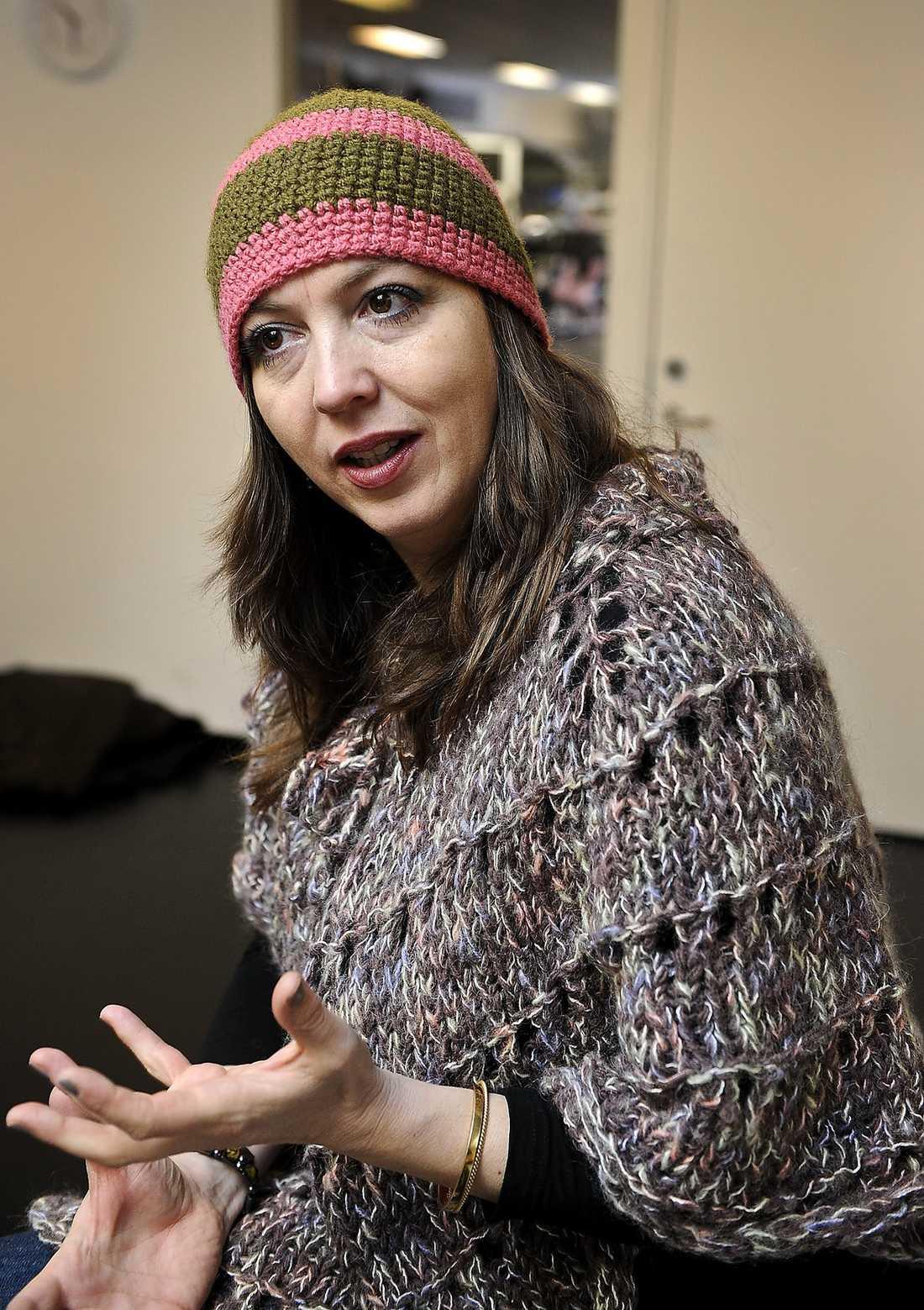 Kathrine Windfeld gillar att Sverige jobbar aktivt för att få fram fler kvinnliga regissörer.