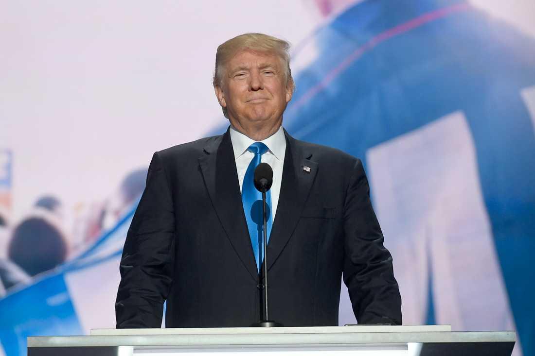KANDIDATEN Donald Trump valdes till Republikanernas presidentkandidat vid partiets konvent Cleveland i juli.