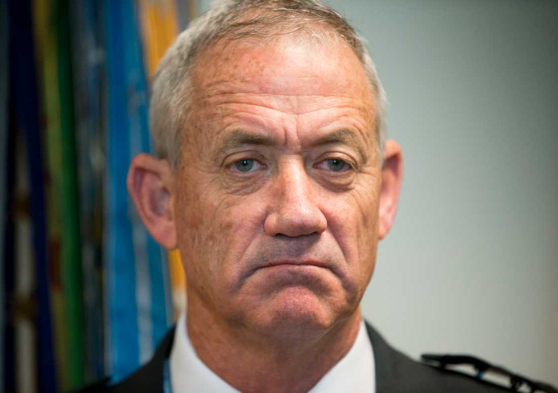 Den tidigare arméchefen Benny Gantz vill utmana Benjamin Netanyahu. Arkivbild.