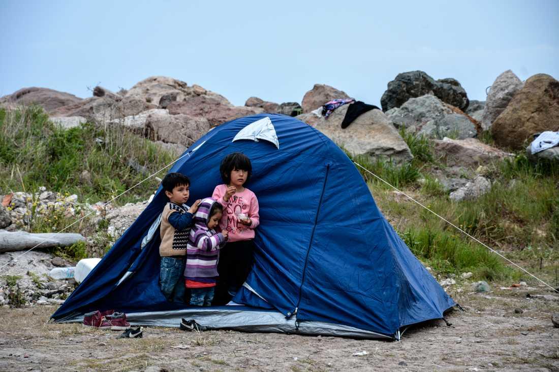 Tyskland meddelar att man ska ta emot 500 barn och unga från greklands migrantläger. Arkivbild.